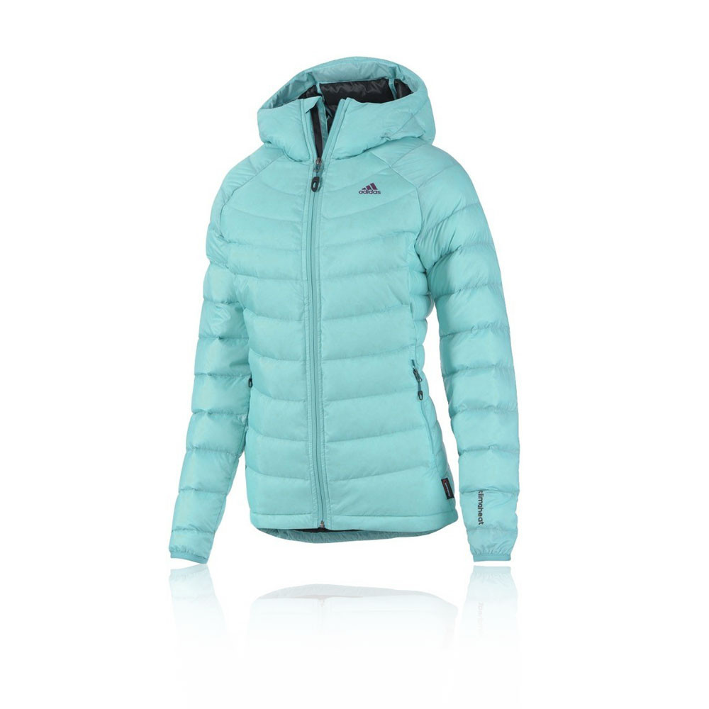 adidas terrex ice womens blue climaheat water resistant hooded jacket top ebay. Black Bedroom Furniture Sets. Home Design Ideas