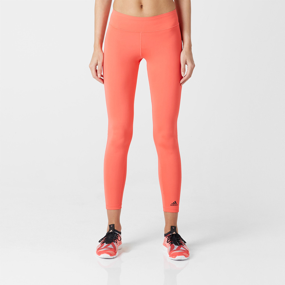 adidas ultimate fit lang damen laufhose jogging hose sporthose tight orange ebay. Black Bedroom Furniture Sets. Home Design Ideas