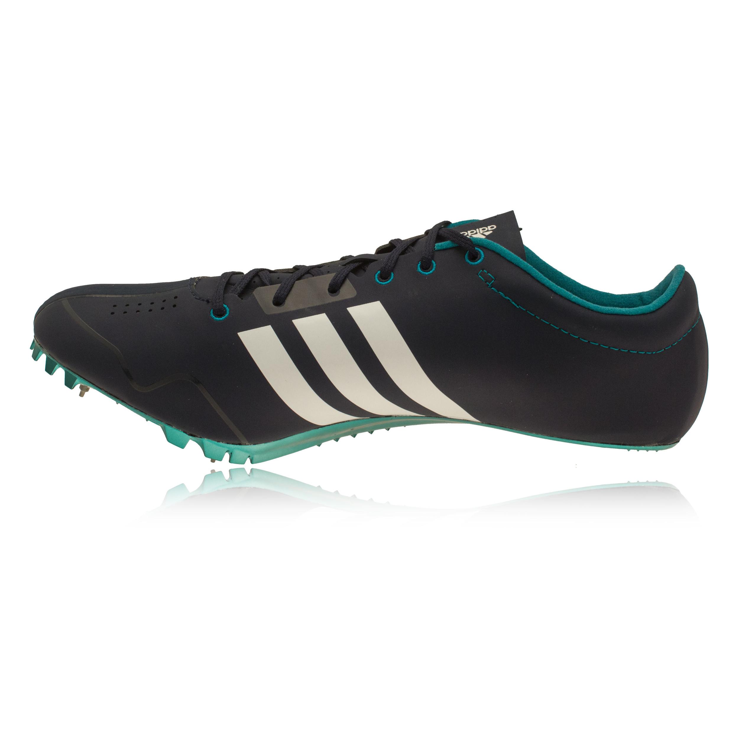 adidas adizero prime mens white blue running sprint spikes