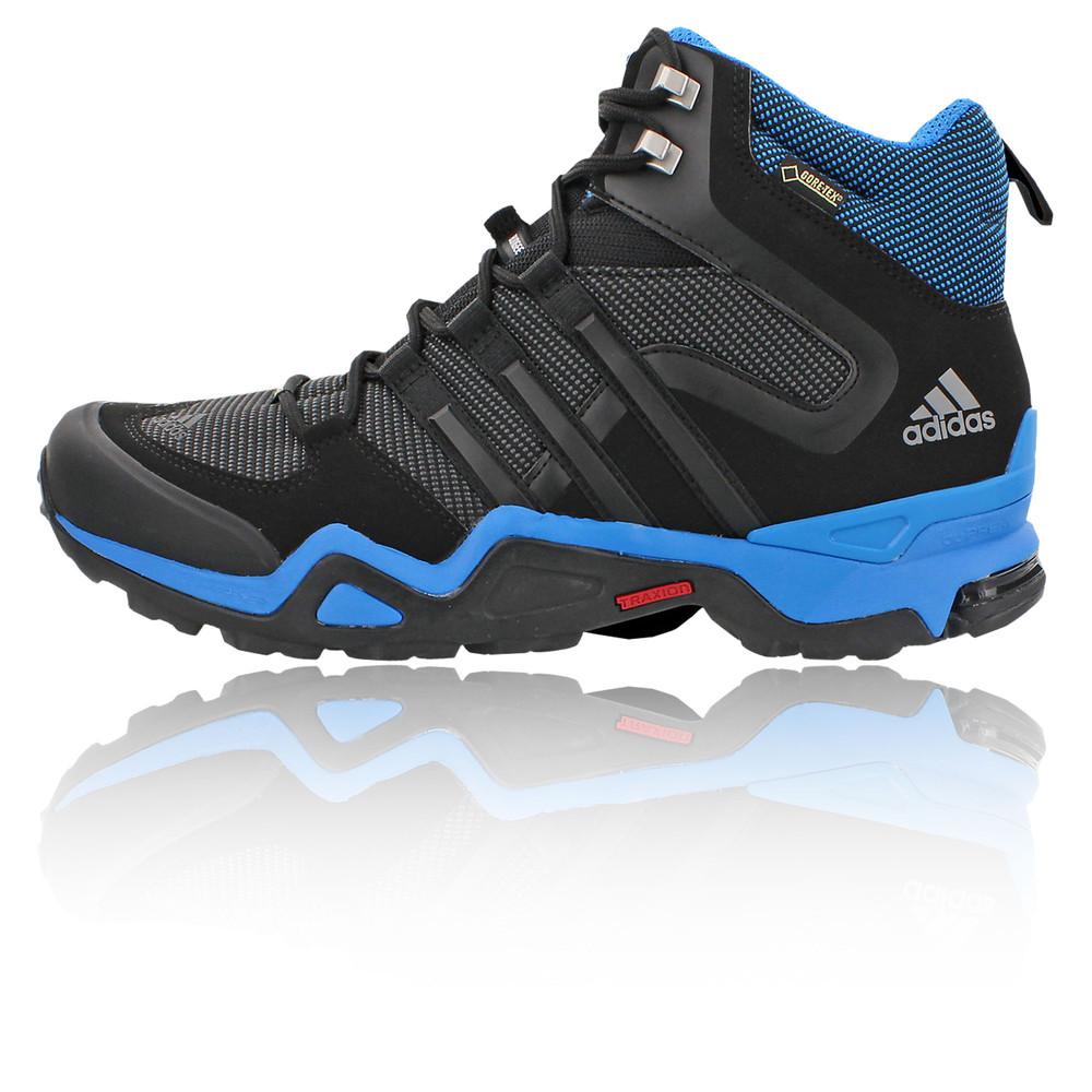adidas fast x high mens blue black waterproof tex