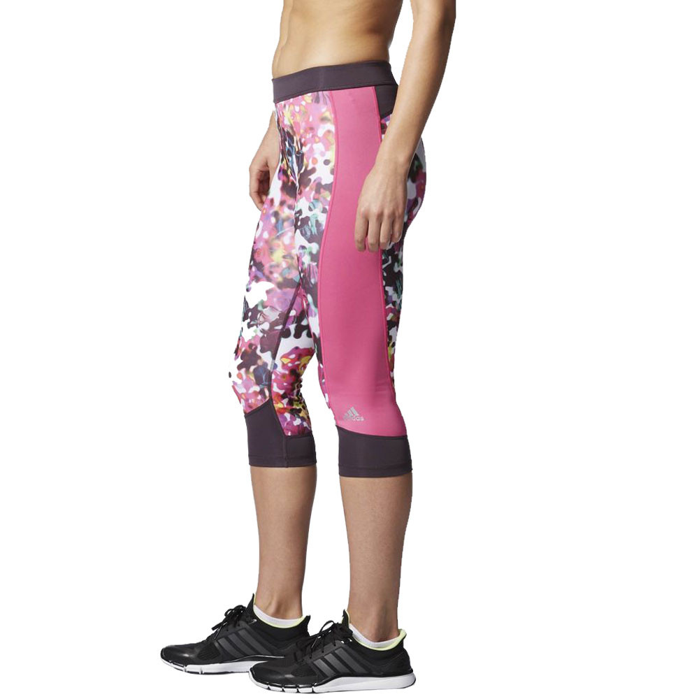 adidas techfit floral print damen laufhose sporthose. Black Bedroom Furniture Sets. Home Design Ideas