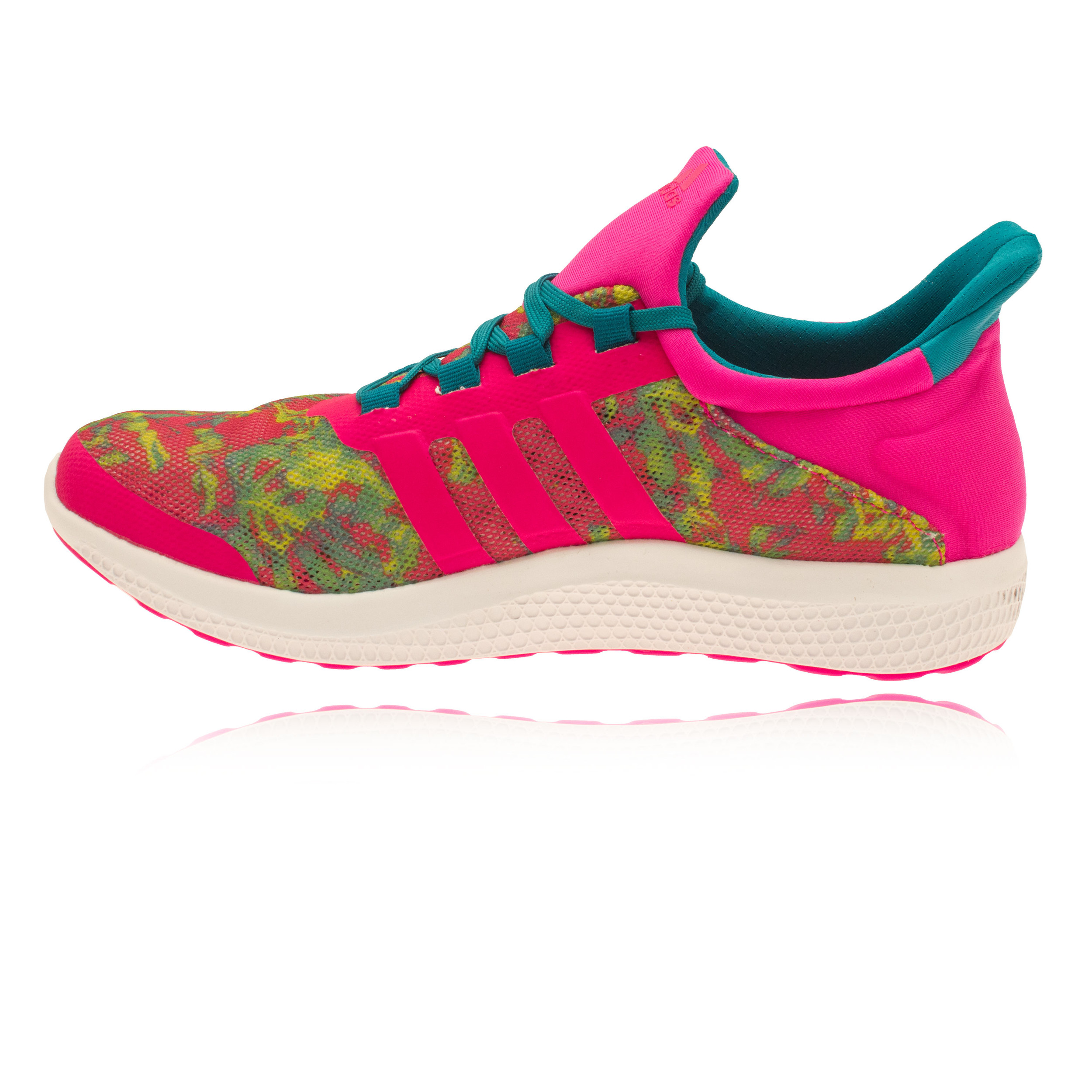 adidas cc sonic womens pink green running sports shoes