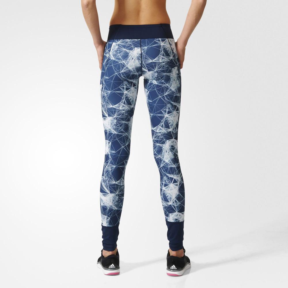 Adidas Womens Blue Climalite Running Long Tights Sports ...