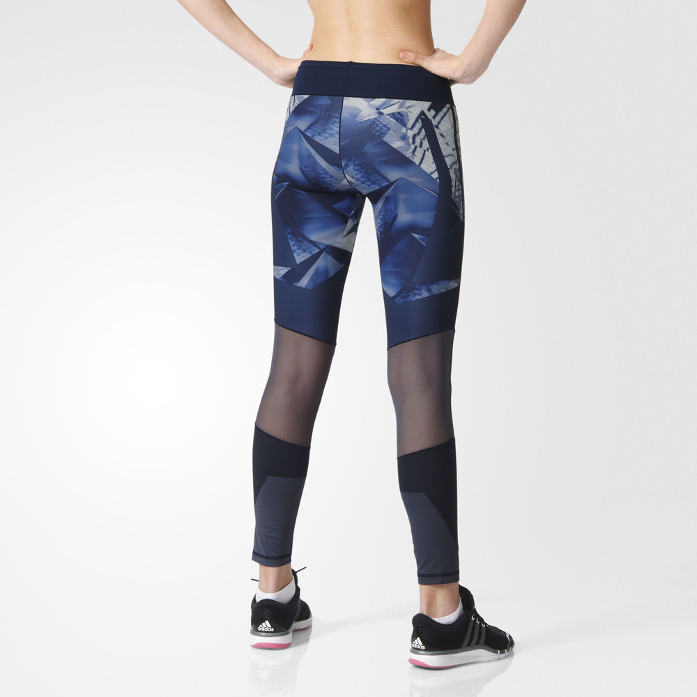 adidas wow womens blue climalite training long tights sports bottoms pants ebay. Black Bedroom Furniture Sets. Home Design Ideas