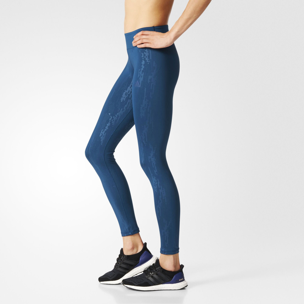 Adidas Womens Blue Climalite Running Sports Long Tights ...