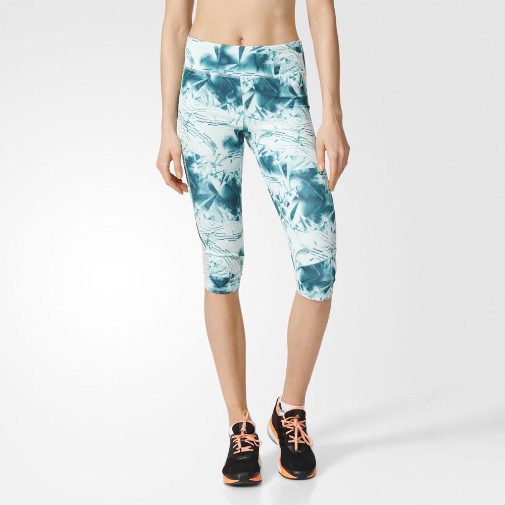 Adidas Supernova 3/4 Damen Capri Sport Hose Laufhose Jogginghose Tight Blau | eBay