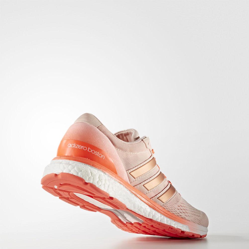 adidas adizero boston boost 6 womens pink orange sneakers