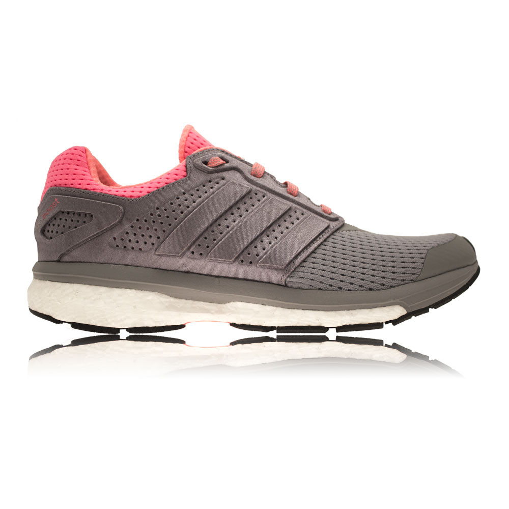 adidas supernova boost glide 7 womens pink grey running. Black Bedroom Furniture Sets. Home Design Ideas