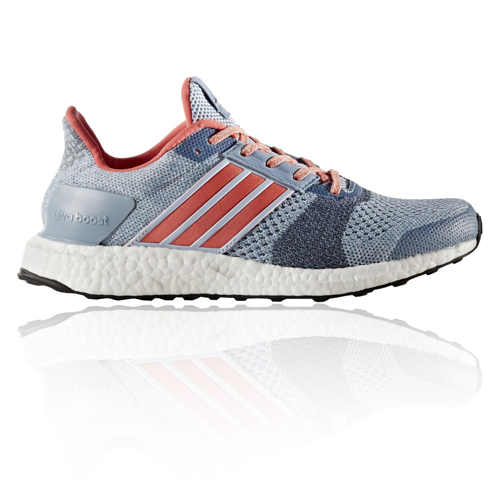 Adidas Ultra Boost ST Womens Blue Running Sports Shoes