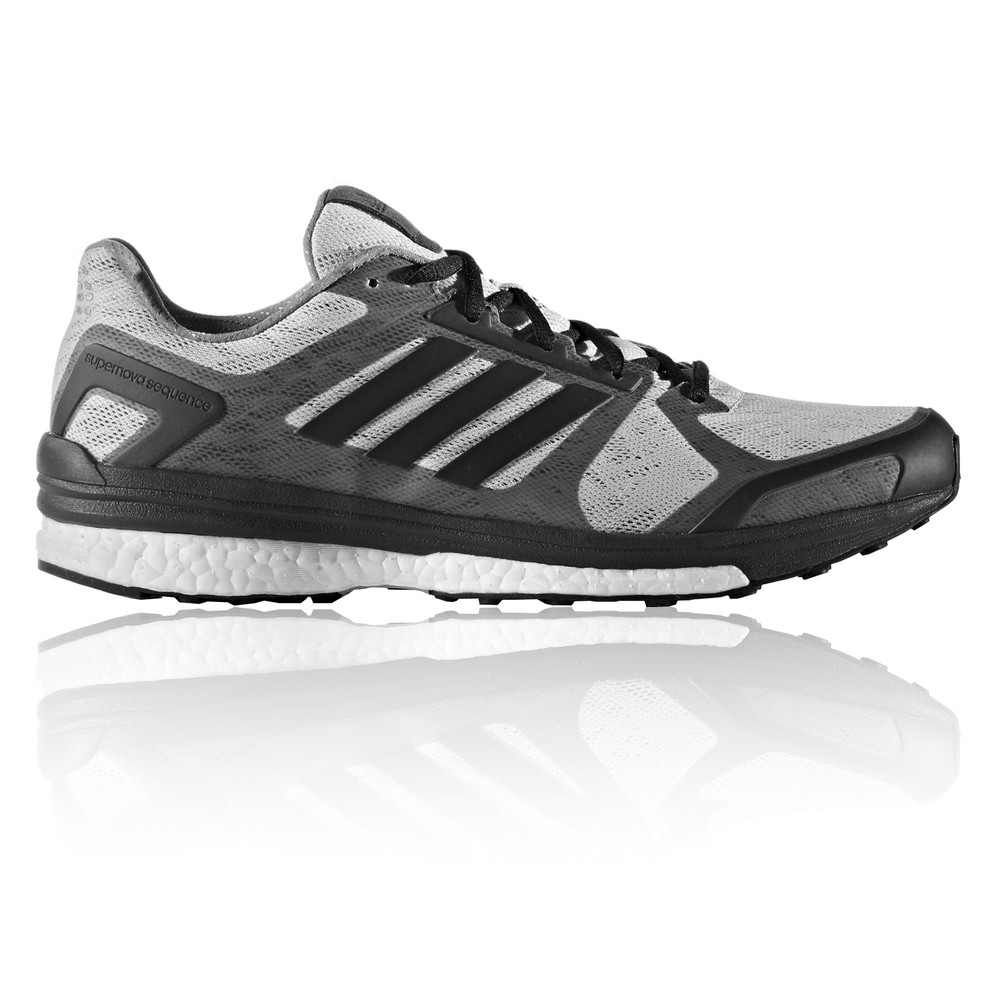 1f42e71a9 Adidas Supernova Sequence 9 Mens Grey Sneakers Running Shoes Trainers Pumps