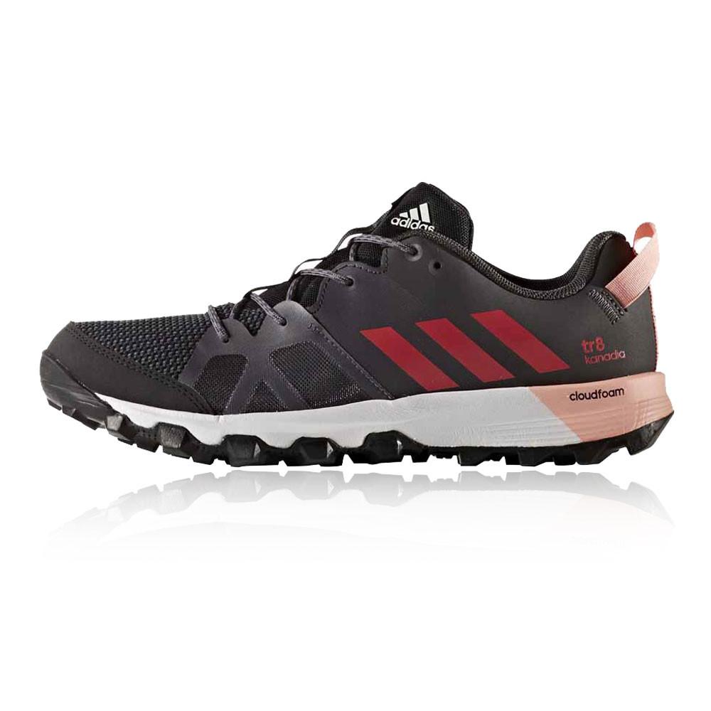 adidas kanadia 8 frauen, schwarze spur laufen weg, sportschuhe