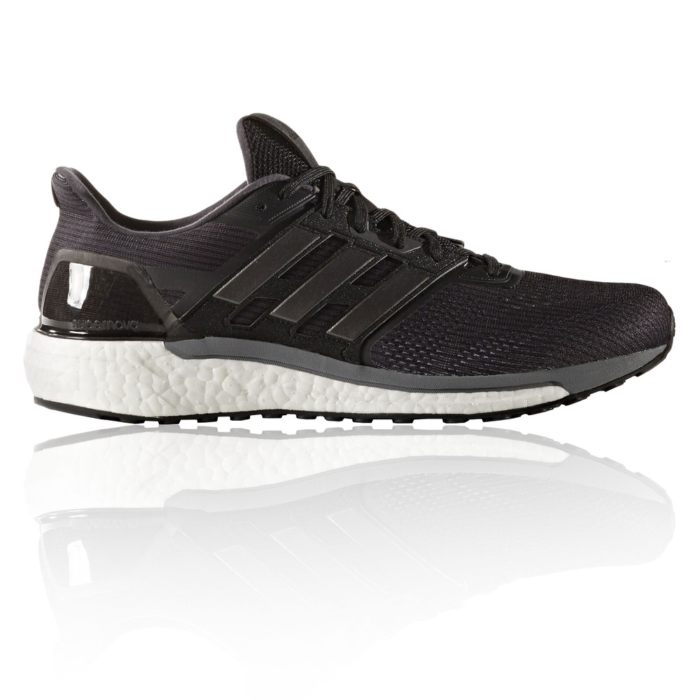 Adidas Supernova Mens Black Sneakers Running Road Sports