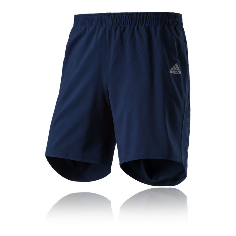 adidas response 7 mens blue climalite running gym shorts. Black Bedroom Furniture Sets. Home Design Ideas