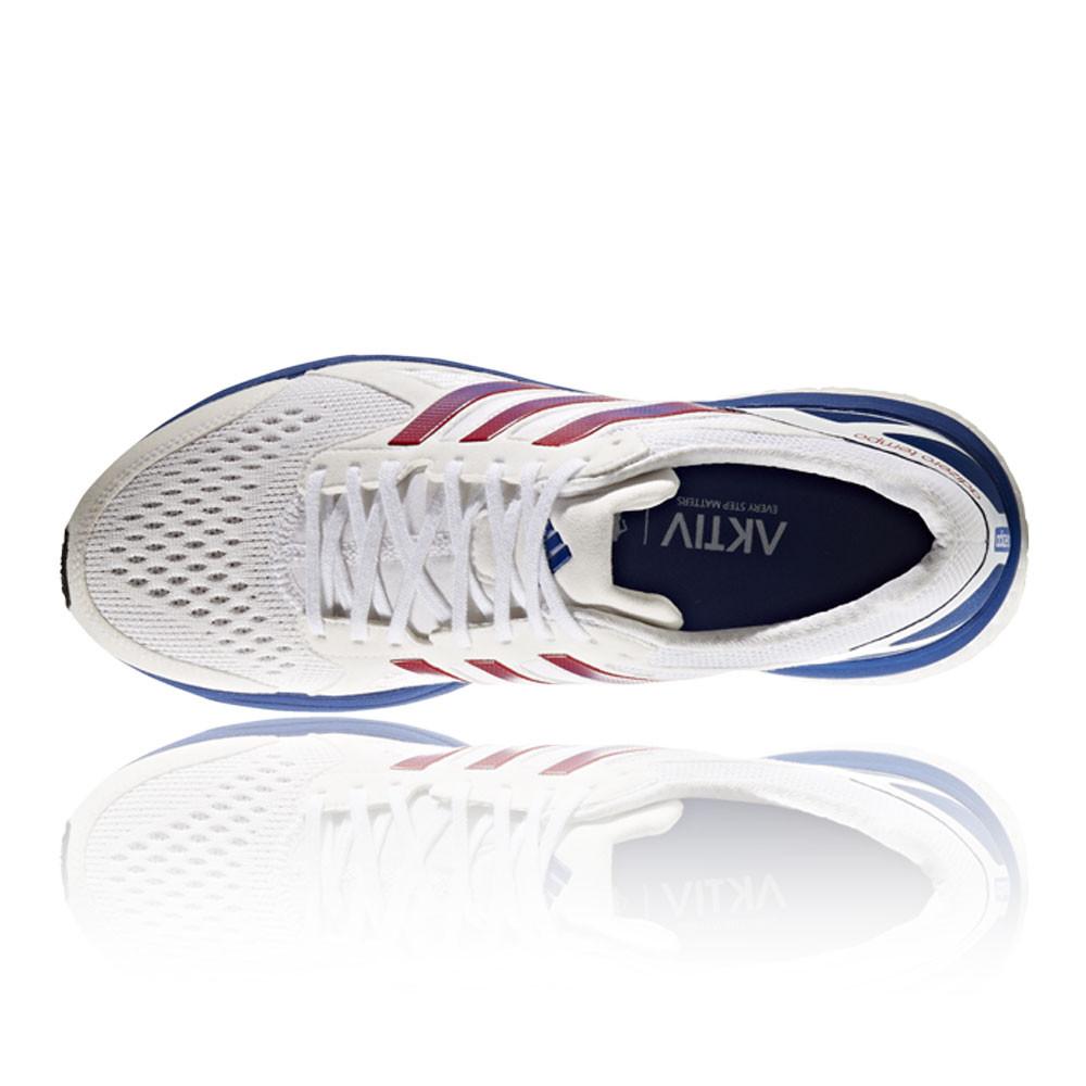 d1e1572059f6f4 Adidas Adizero Tempo AKTIV Mens White Cushioned Running Sports Shoes ...