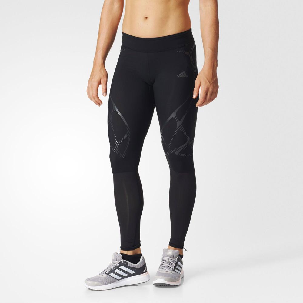 adidas-Adizero-SW-Donna-Nero-Compressione-Corsa-Collant-Lungo-Pantaloni