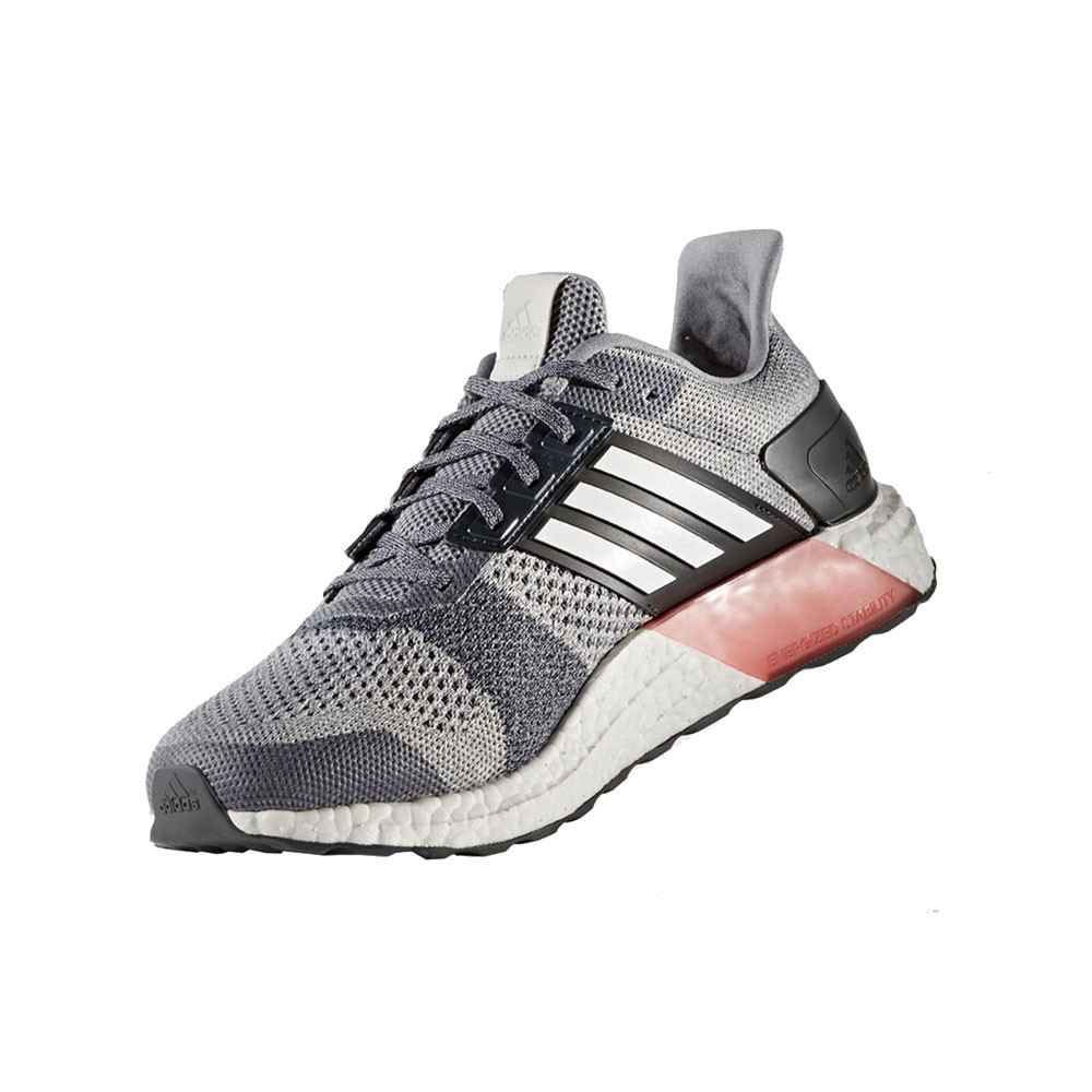 1c49712667e2 Adidas Ultra Boost ST Mens White Grey Support Running Sports Shoes ...
