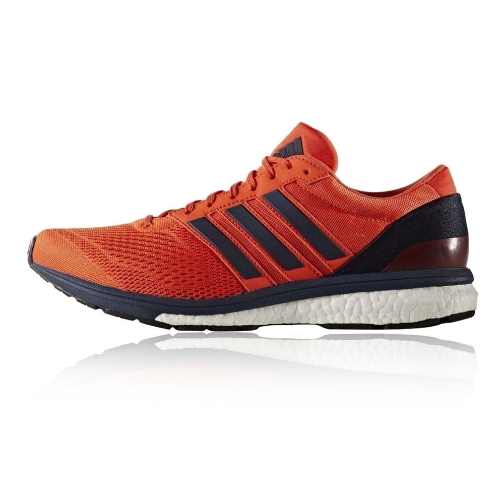cheaper 63aba 395fb Adidas-Adizero-Boston-6-Mens-Orange-Blue-Cushioned-