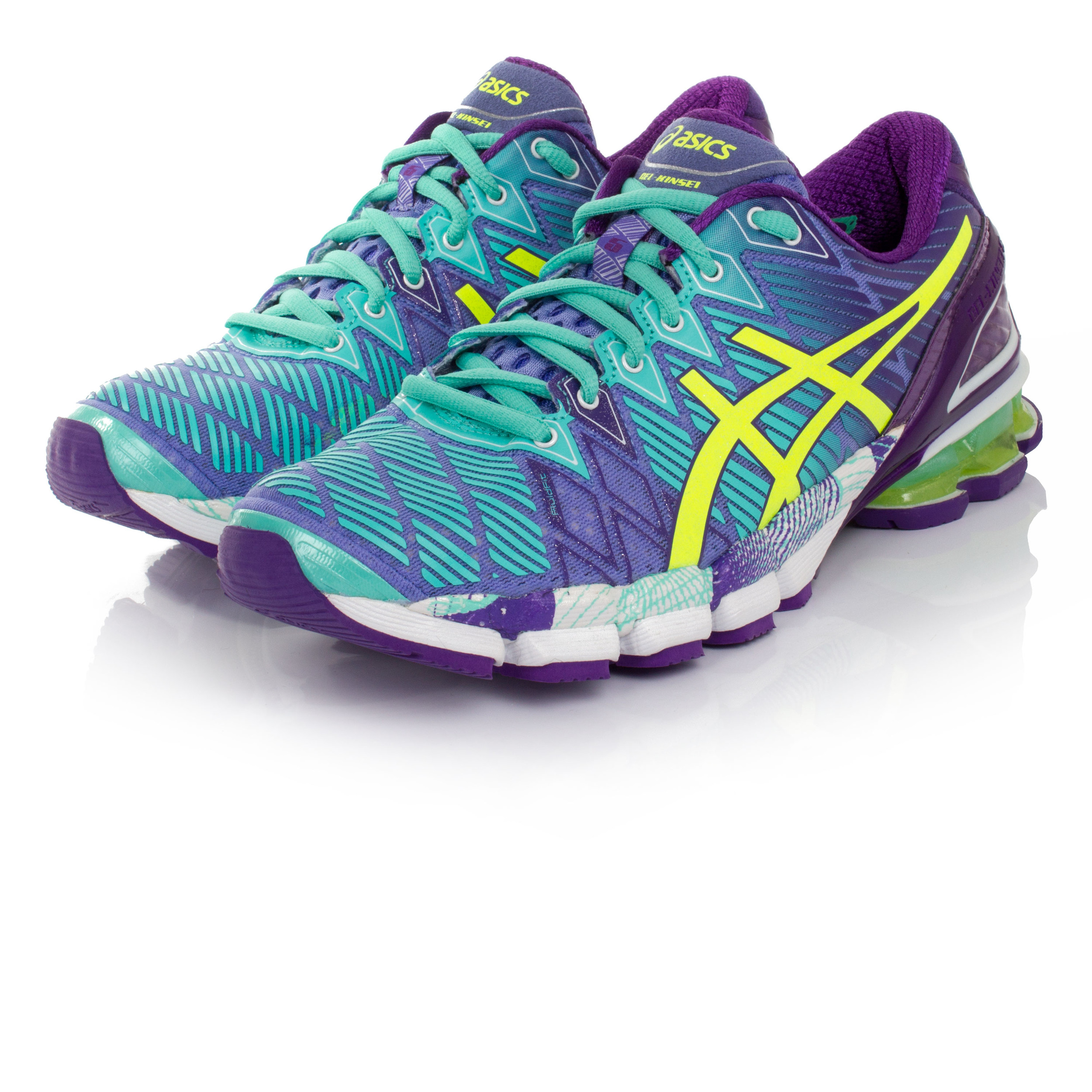 premium selection 6215a d6d3d ... discount code for asics gel kinsei 5 womens green purple cushioned  715fc d028f
