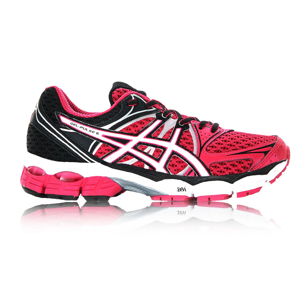 asics pink gel pulse trainers