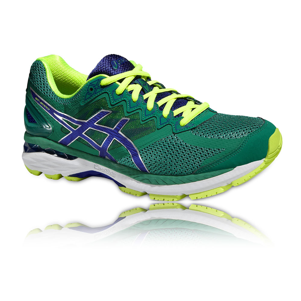 asics gt 2000 4 mens green support running road sports shoes trainers 2e width ebay. Black Bedroom Furniture Sets. Home Design Ideas