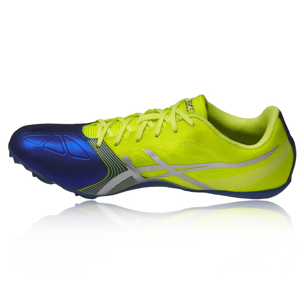 asics hypersprint 6 mens yellow blue running athletics