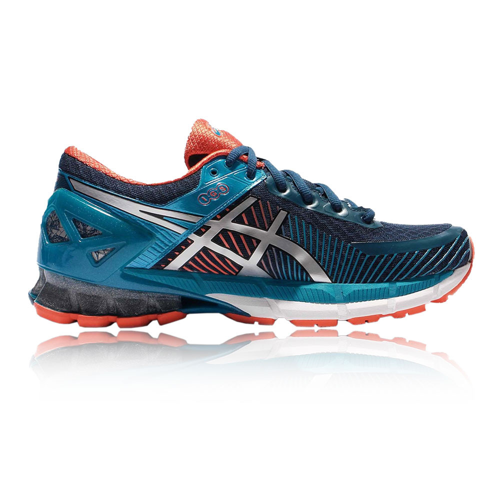 asics gel kinsei 6 hommes orange bleu amorti running sport chaussures baskets ebay. Black Bedroom Furniture Sets. Home Design Ideas