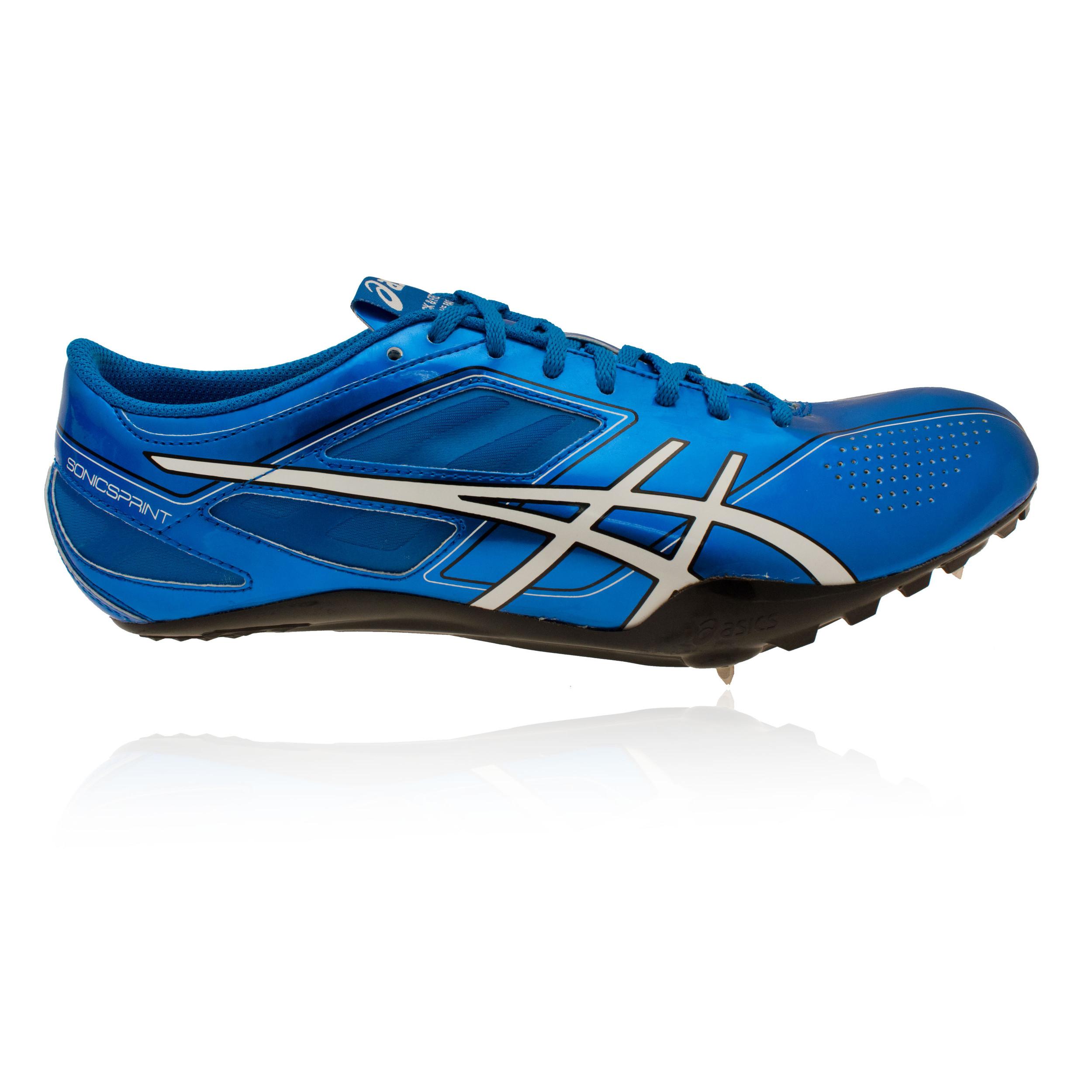 asics sonicsprint mens blue running field spikes athletics
