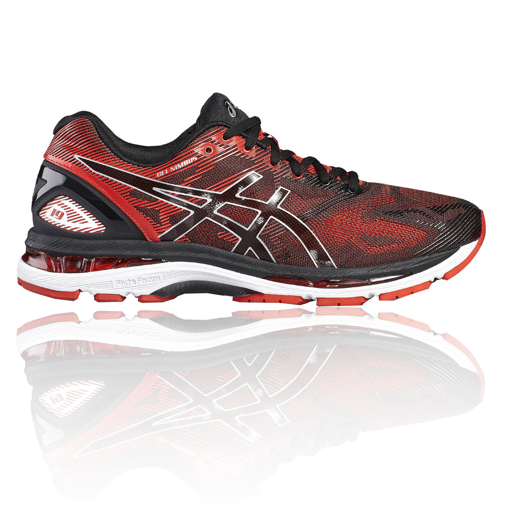 asics gel nimbus 19 herren sportschuhe laufschuhe jogging schuhe turnschuhe rot ebay. Black Bedroom Furniture Sets. Home Design Ideas