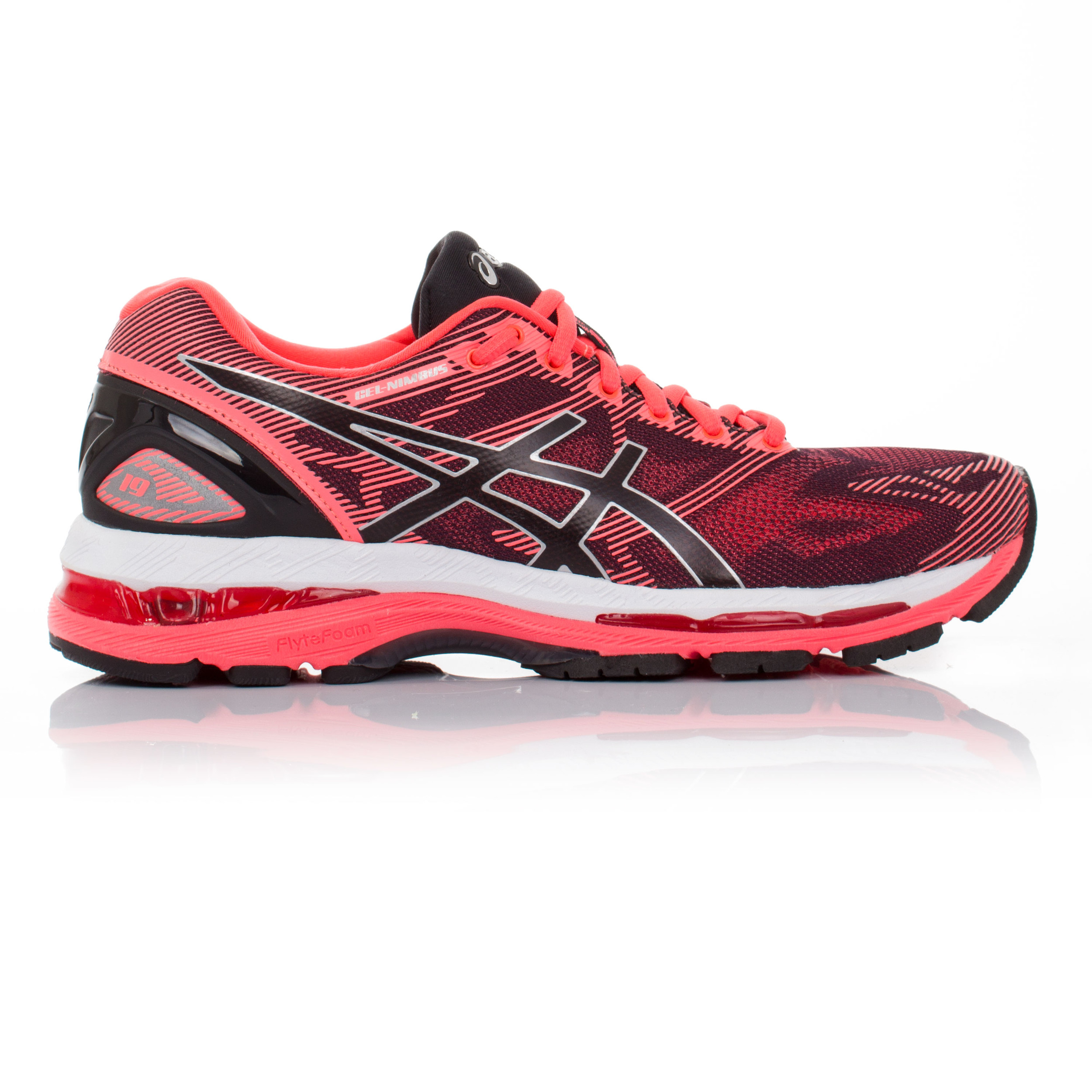 asics gel nimbus 19 mujer naranja zapatillas acolchadas deporte correr carretera. Black Bedroom Furniture Sets. Home Design Ideas