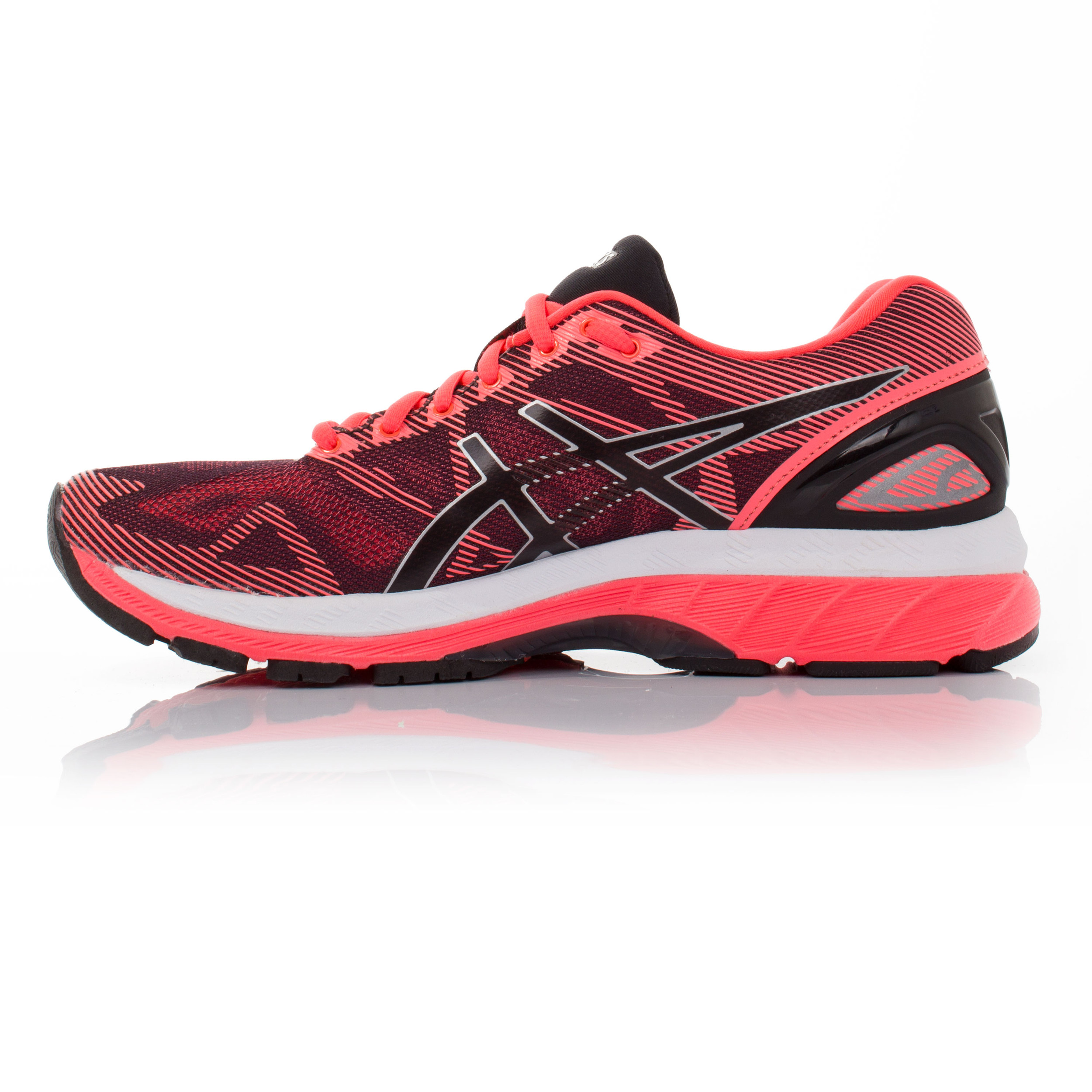 asics gel nimbus 19 womens pink cushioned running road. Black Bedroom Furniture Sets. Home Design Ideas