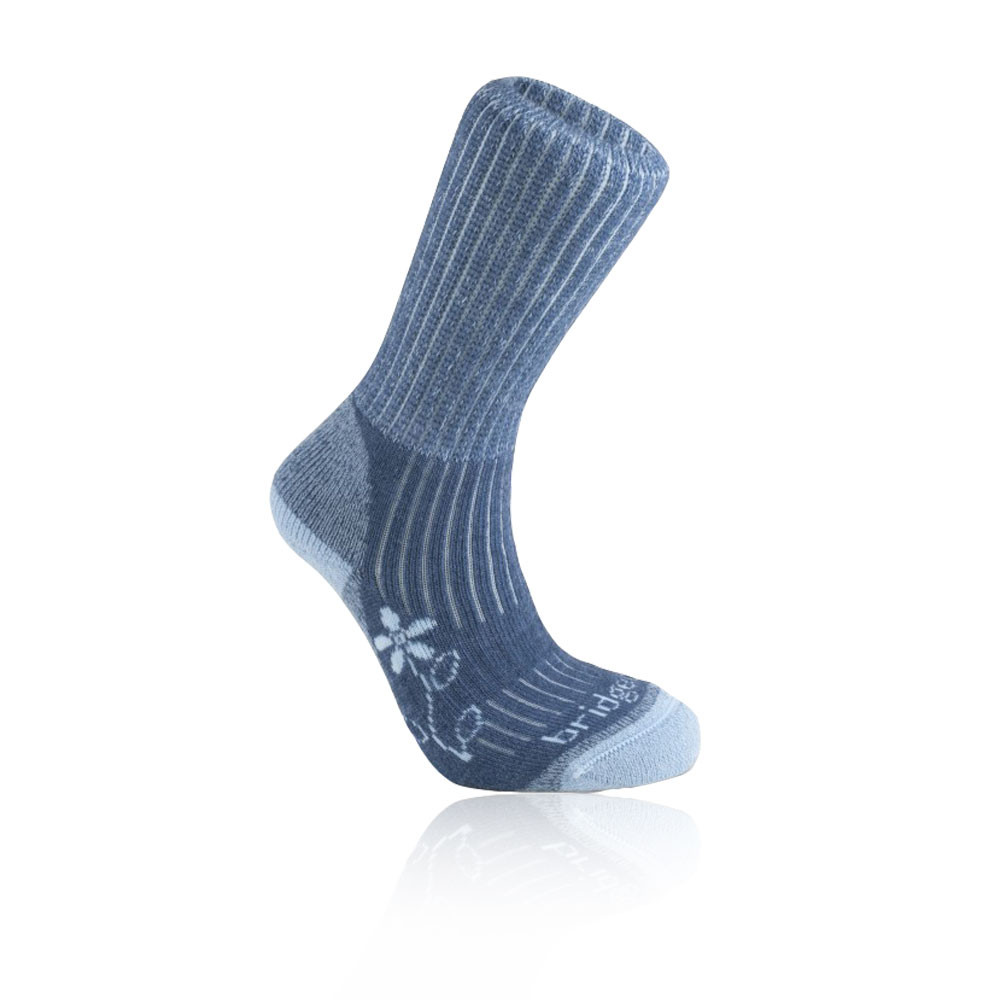 Bridgedale Merinofusion Trekker Womens Blue Coolmax Cushioned Running Socks
