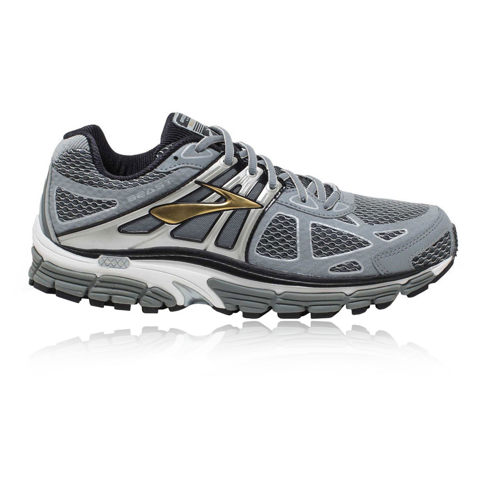 Brooks Beast 14 Mens Grey Silver Support Running Shoes ...