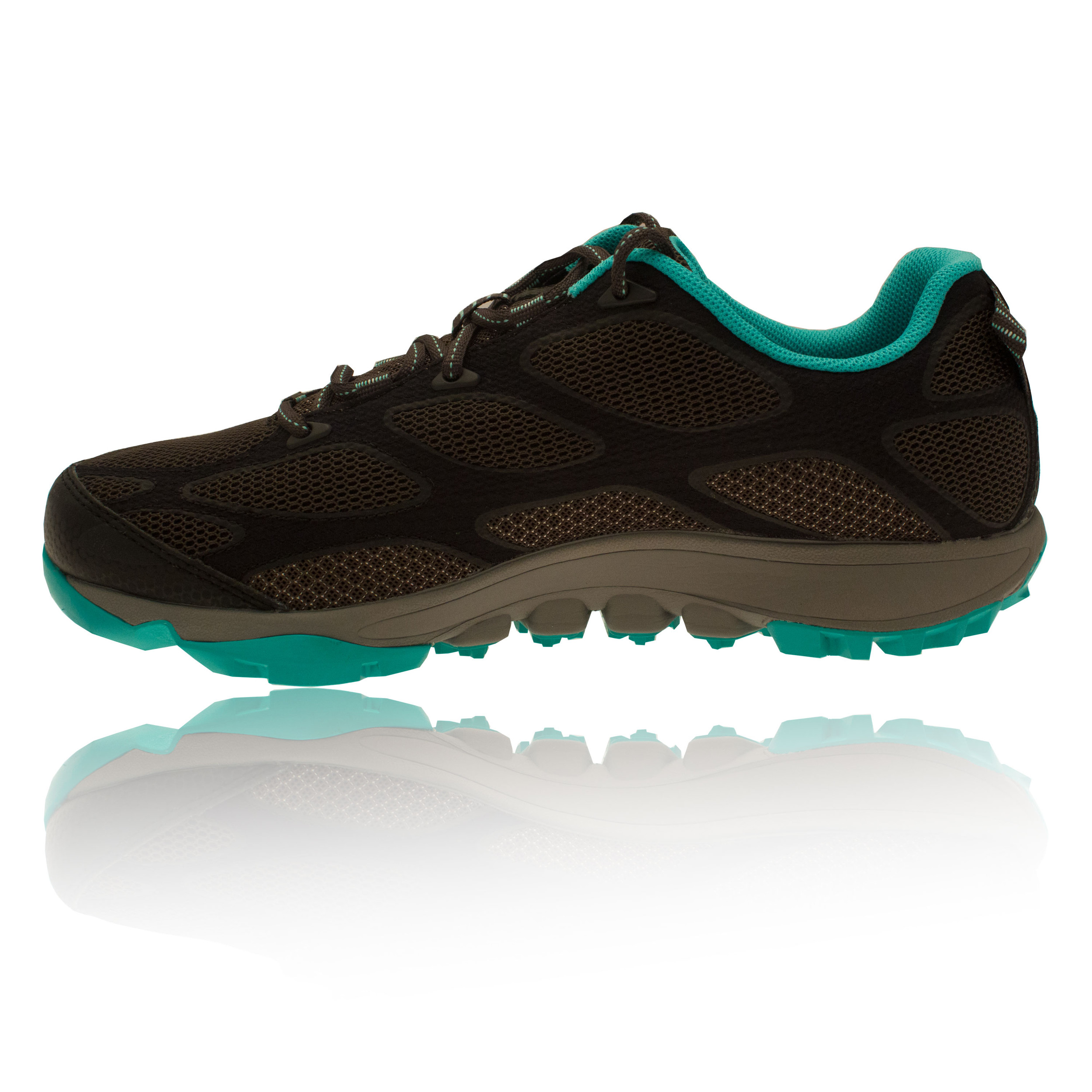 Columbia-Conspiracy-Iv-Outdry-Femmes-Vert-Noir-Trail-Baskets-Chaussures-Sneakers