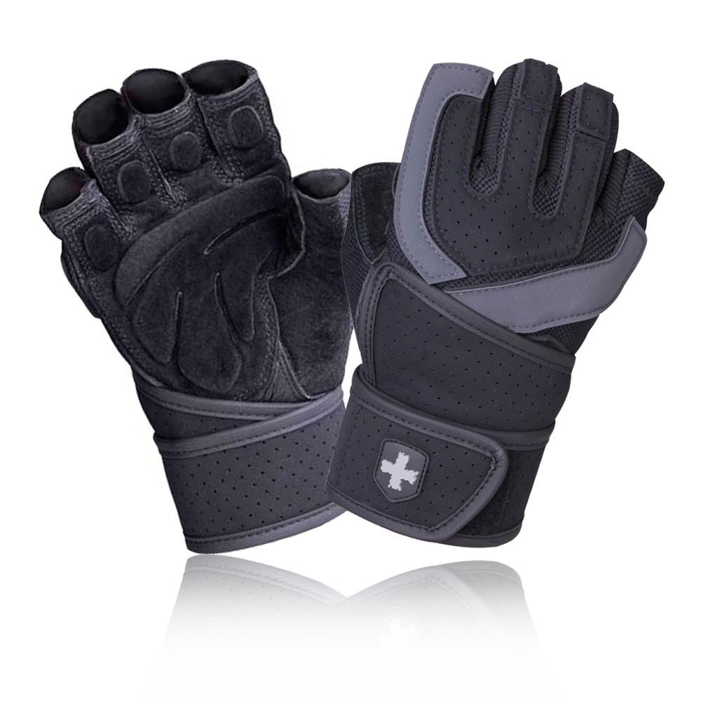 Sport In Gloves: Harbinger Training Grip Wristwrap Mens Womens Black