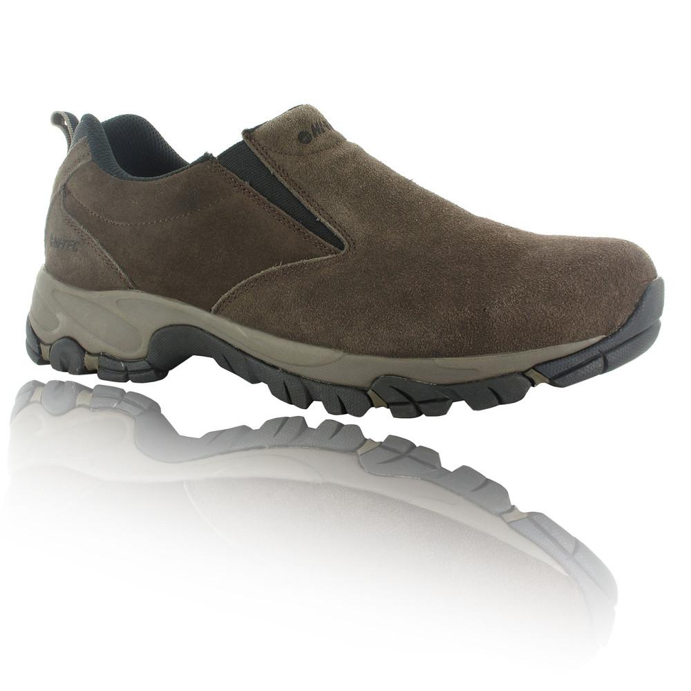 Mens Slip On Walking Shoe Brown