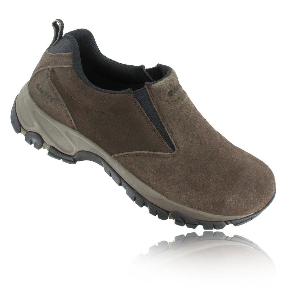 hi tec altitude mens brown moc suede slip on walking