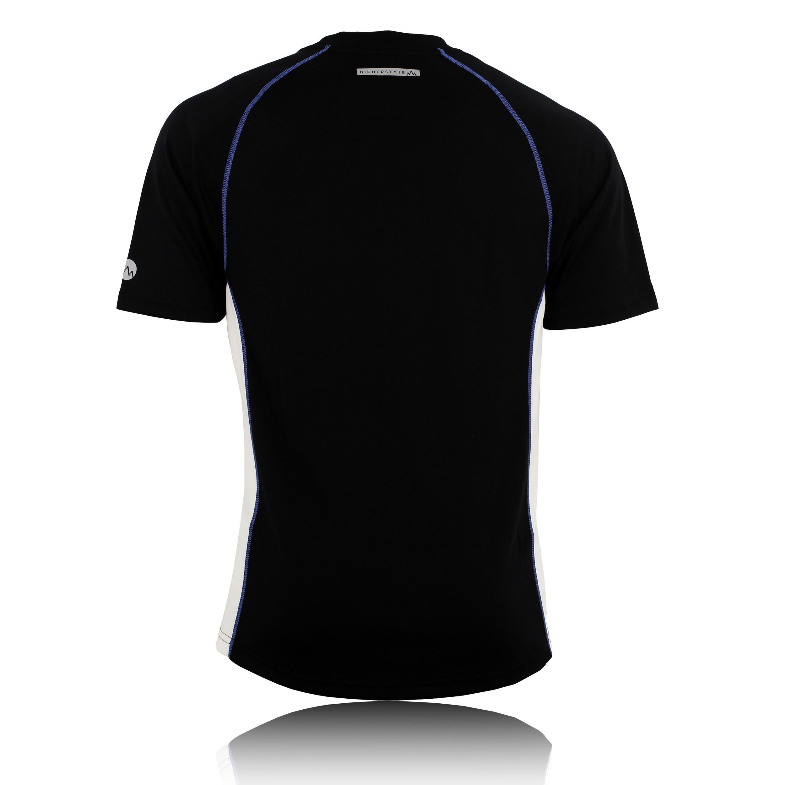 Higher state mens black white crew neck short sleeve for Black and white short sleeve shirts