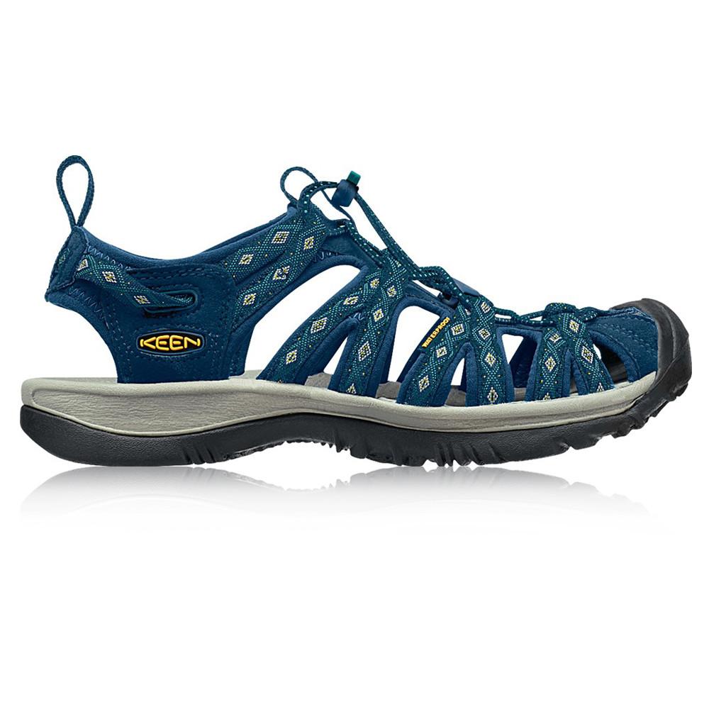 Keen-Whisper-Mujer-Azul-Marino-Resiste-Agua-Caminar-Exterior-Ponerse-Sandalias