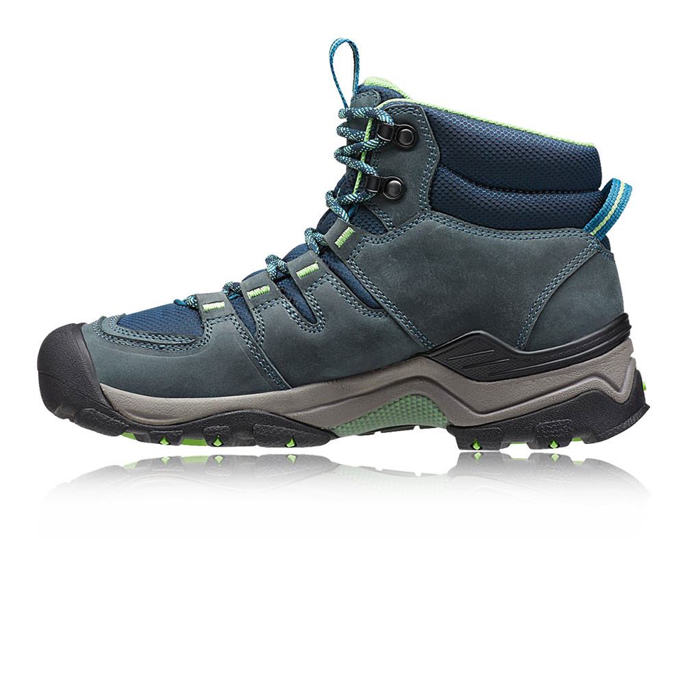 keen gypsum ii mid womens blue waterproof outdoors walking