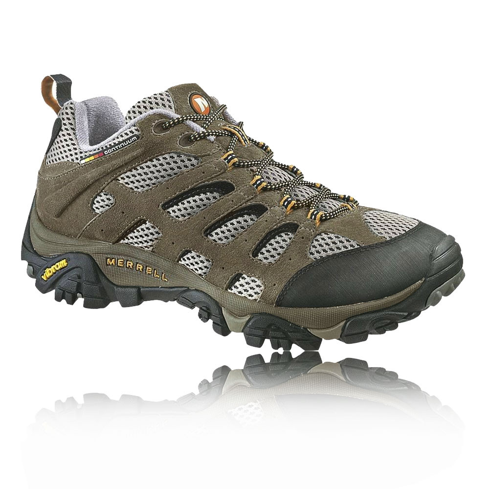 merrell mens moab ventilator brown leather outdoor walking