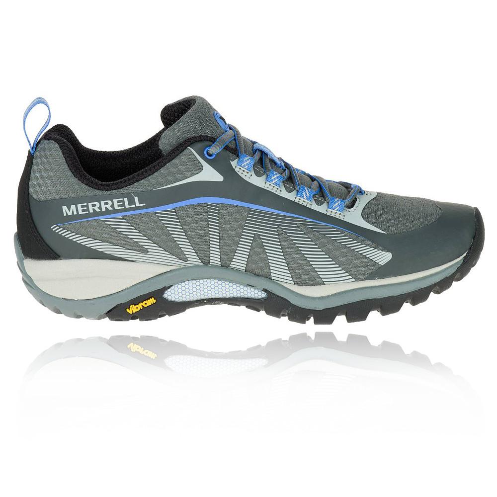 Merrell-Siren-Edge-Mujer-Gris-Azul-Vibram-Exterior-Excursionismo-Deporte-Zapatos