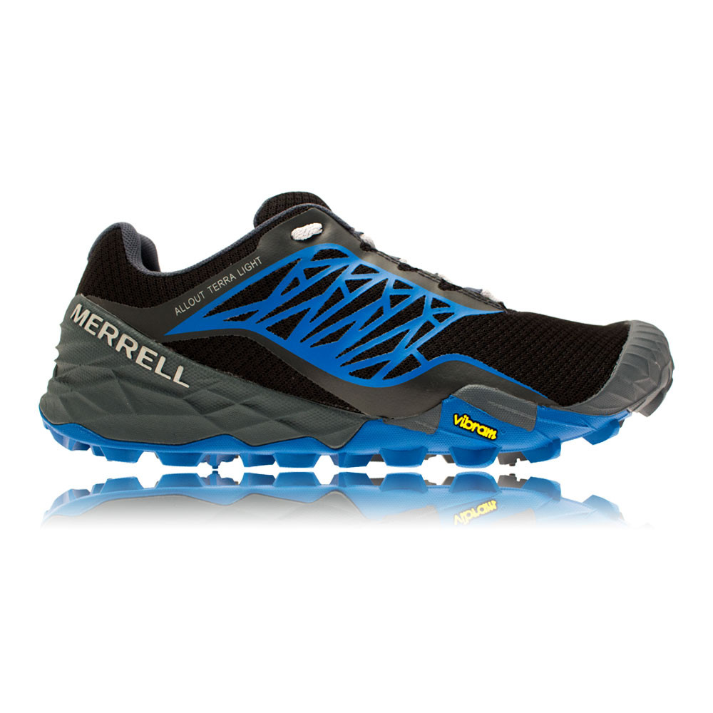 merrell all out terra mens blue black trail running sports