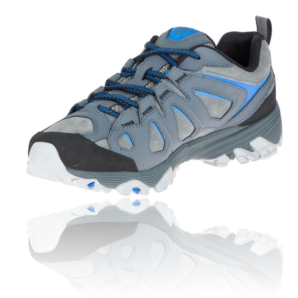 Merrell-Moab-Fst-Cuir-Homme-Bleu-En-Plein-Air-Marche-Randonnee-Chaussures