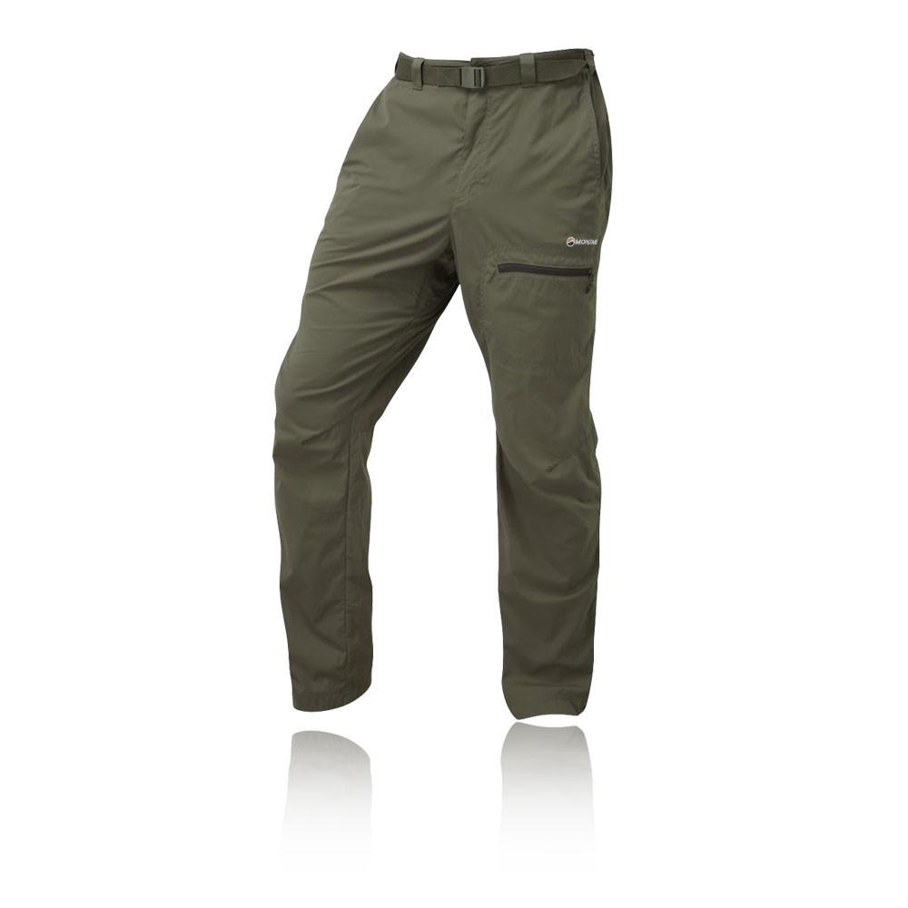 Montane Terra Pack Mens Green Water Resistant Short Leg Hiking Long Pants