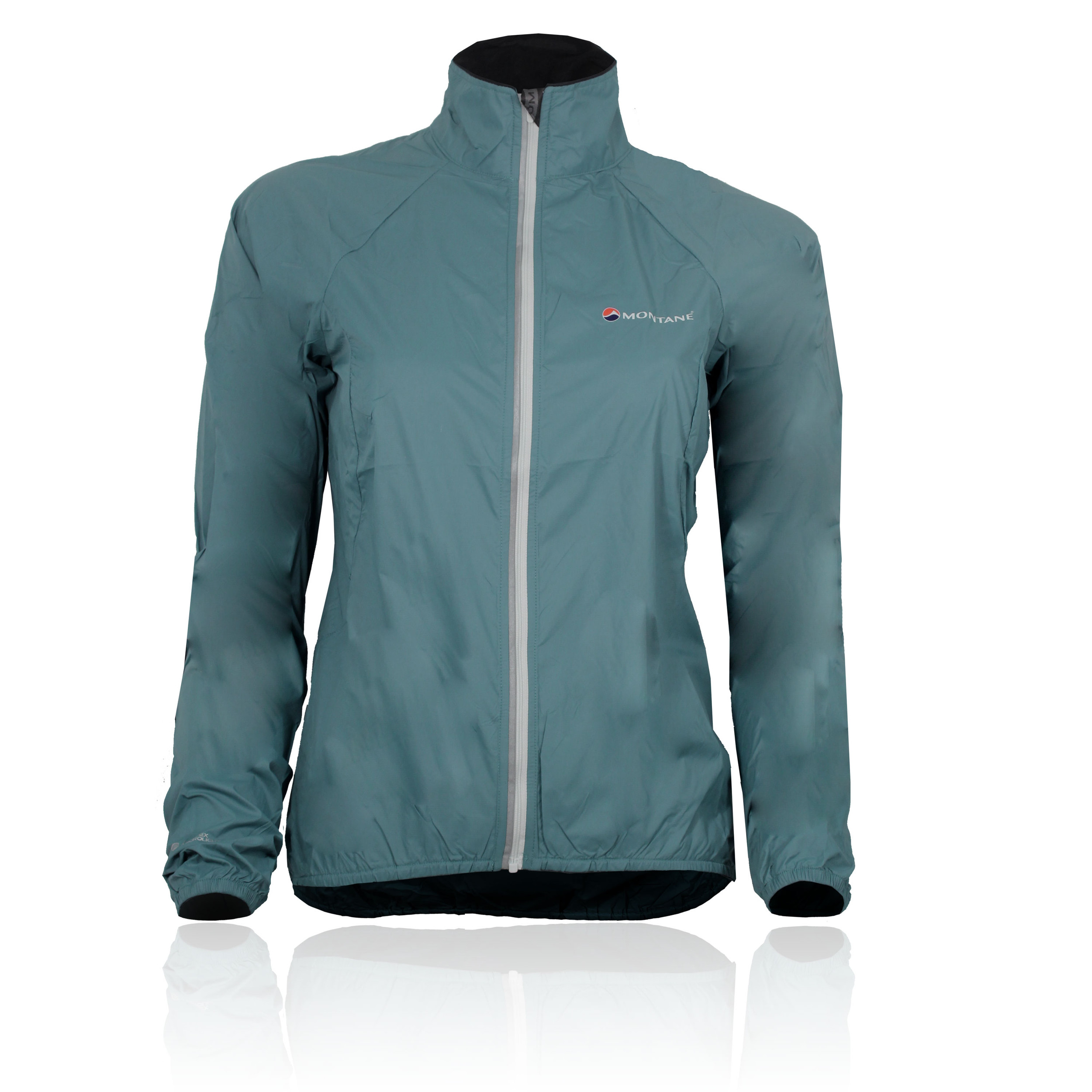 montane featherlite velo damen fahrradjacke windjacke wasserfeste jacke blau. Black Bedroom Furniture Sets. Home Design Ideas