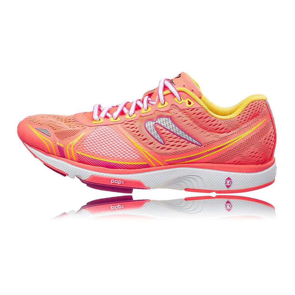 newton motion v womens pink orange sneakers running sports