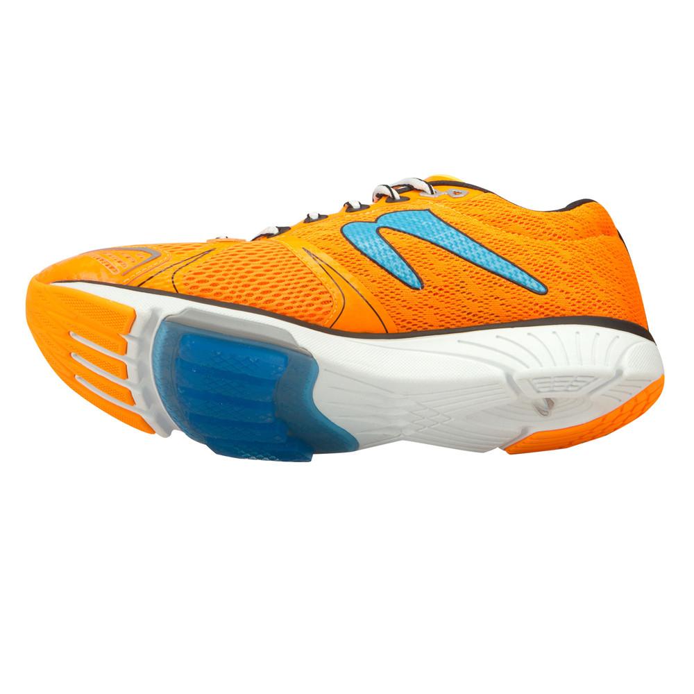 newton distance v mens orange sneakers running road sports