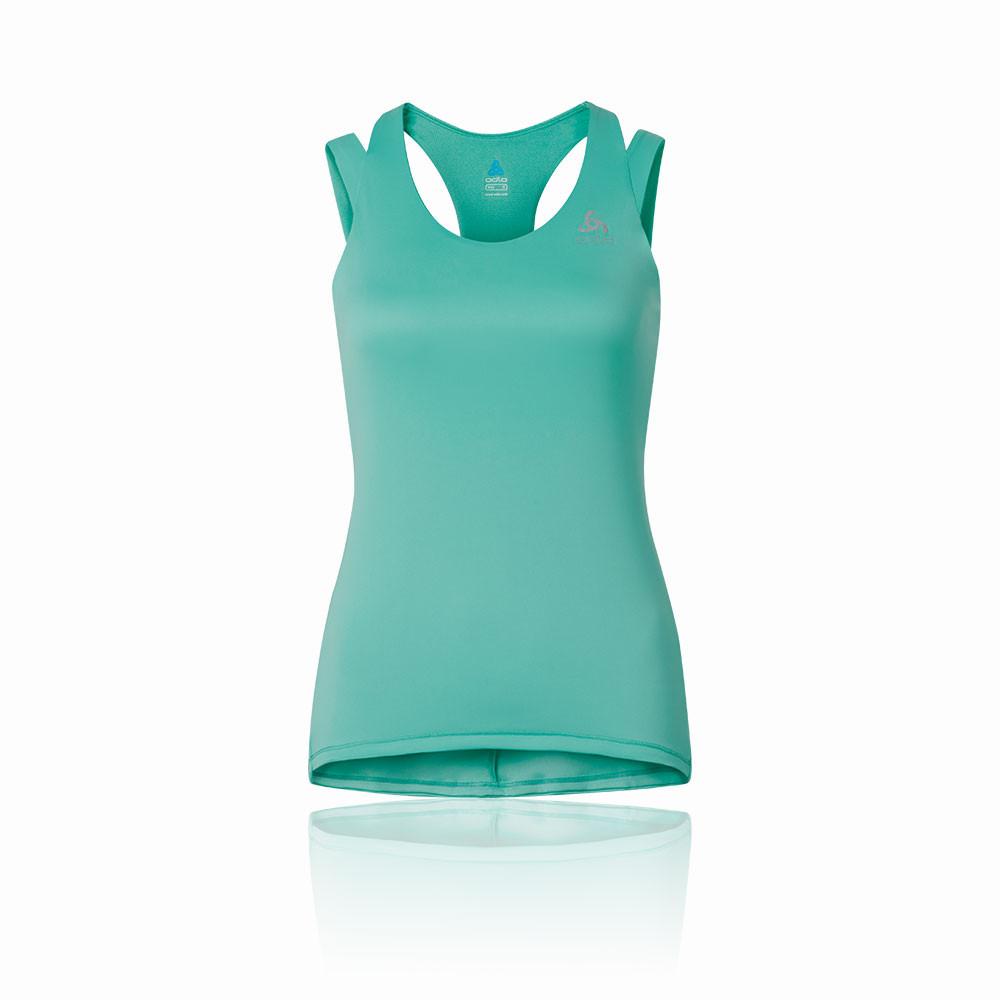 Odlo-Camiseta-Tirantes-Con-Top-Integrado-Clio-Mujer-Azul-Verde-Running-Gimnasio