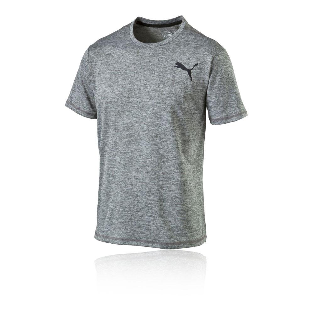 Puma essential puretech heather mens grey short sleeve Mens heather grey t shirt