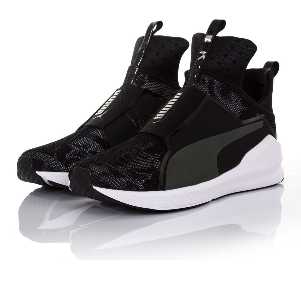 puma fierce swan femmes noir fitness gym chaussures de sport baskets sneakers ebay. Black Bedroom Furniture Sets. Home Design Ideas